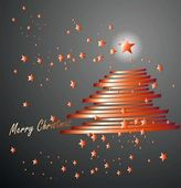 Merry chrismas and tree — Foto Stock