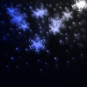 Blue stars on black — Stock Photo