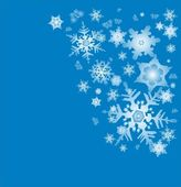 Blue snow new year — Stock Photo