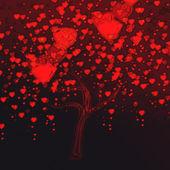 Tree Valentine's — Stok fotoğraf