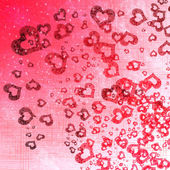 Srdce pozadí na růžové — Stock fotografie