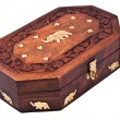Stock Photo: Old vintage wooden casket