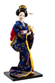 Japanese geisha doll — Stock Photo