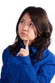 Leuke Aziatische meisje denken — Stockfoto