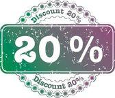 Stamp Discount twenty percent — Stock Photo