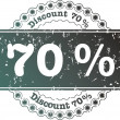 Stock Photo: Stamp Discount seventy percent