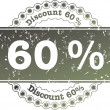 Stock Photo: Stamp Discount sixty percent