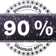 Stamp Discount ninety percent — Stock Photo #12430787