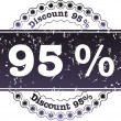 Stamp Discount ninety five percent — Stock Photo