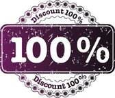 Stamp Discount hundred percent — Stock Photo