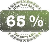 Stamp Discount sixty five percent — Stock Photo