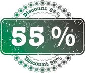 Stamp Discount Fifty Five Percent — Stock Photo