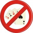 No Gambling cards — Stock Vector