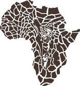 非洲的长颈鹿伪装 — 图库矢量图片