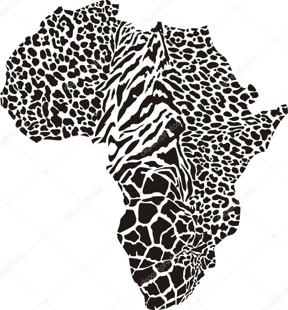 非洲作为动物皮肤的矢量插图– 图库插图