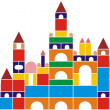 Castle of baby cubes - Stock Vector