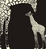 Inverse giraffe animal camouflage — Stock Vector