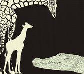 Inverse crocodile and giraffes camouflage — Stock Vector