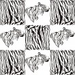 Tiger patterns for textiles and wallpaper — Stock Vector