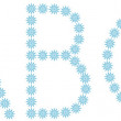 "Letter ""A"",""B"",""C"" from snowflakes — Vector de stock #41231789"