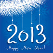 Vector 2013 happy new year greeting — Stock Vector