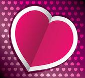 Vector heart for valentine — Stock Vector