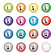 Stock Vector: Vector set of billiard balls