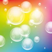 Vector colorful bubbles — Stock Vector