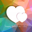 Vector hearts, abstract design for Valentines day. — Stock Vector