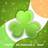 Vector green clover - symbol of Saint Patrick's Day — Stock Vector