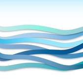 Abstrakt mit blauen wellenförmigen Streifen. Vektor-illustration — Stockvektor