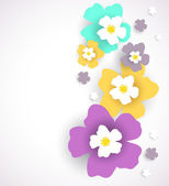 Abstract floral background. Vector illustration — Stock Vector