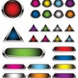 Colorful metal buttons — Stock Vector #4899756