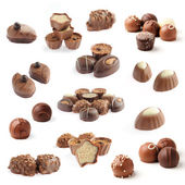 Collection of chocolate pralines — Stock Photo