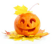 Halloween-kürbis jack o'lantern — Stockfoto