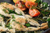 Frogs Legs Fried — Stock Photo
