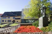 Bachstatue vor muzeum — Zdjęcie stockowe