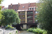 River Gera in Erfurt — Stock Photo