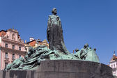 Jan-Hus-Statue — Stock Photo