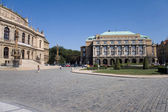 Uni und Rudolfinum — Stock Photo