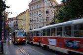 Bewegte Straßenbahn — Stock Photo
