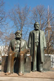 Marx and Engels statues — Stock Photo