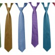 Colorful ties collection — Stock Photo