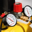 Pressure meters closeup - Stock Photo