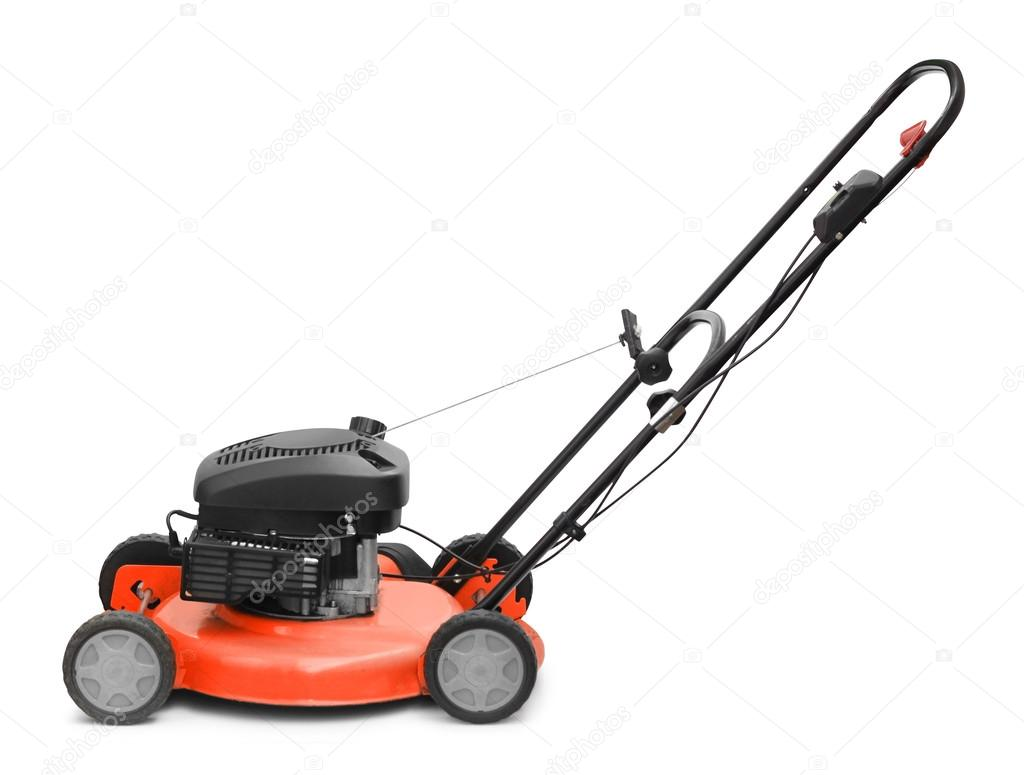 Lawn mower motor grass clipper isolated on white  Stock Photo #13161259
