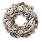 White Christmas door wreath — Stock Photo