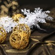 Royalty-Free Stock Photo: Golden Christmas decoration