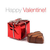 Red Valentine present box — Stock fotografie