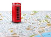 Travel destination map push pin — Stock Photo
