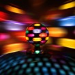 Colorful disco ball lights — Stock Photo